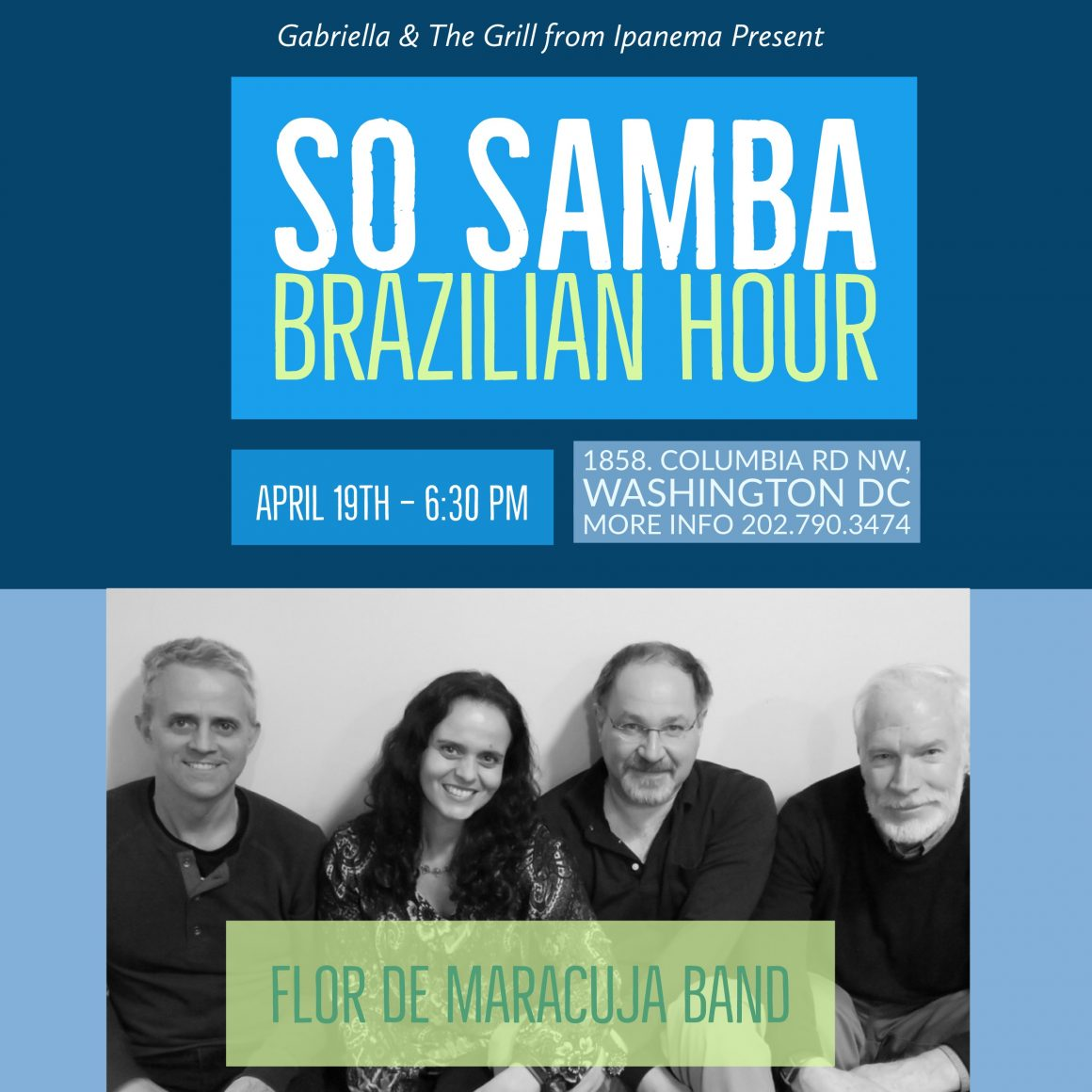 Live Brazilian Music, Food & Drinks, April 19th 7:00pm