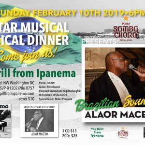 Singer Alaor Macedo Brings the Best of Brazilian Music Feb 10th, 2019 6PM